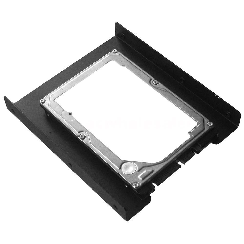 "2pcs  2.5/"" to 3.5/"" SSD HDD Metal Adapter Case Bracket Hard Drive Holder PC U8W9"