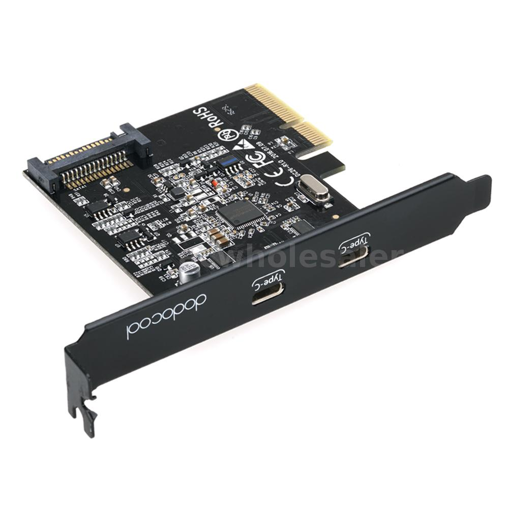 USB 3.1 PCI-Express Card 2 Type-C Ports 5V 15-Pin Connector Gen 2 10 Gbps I5S5