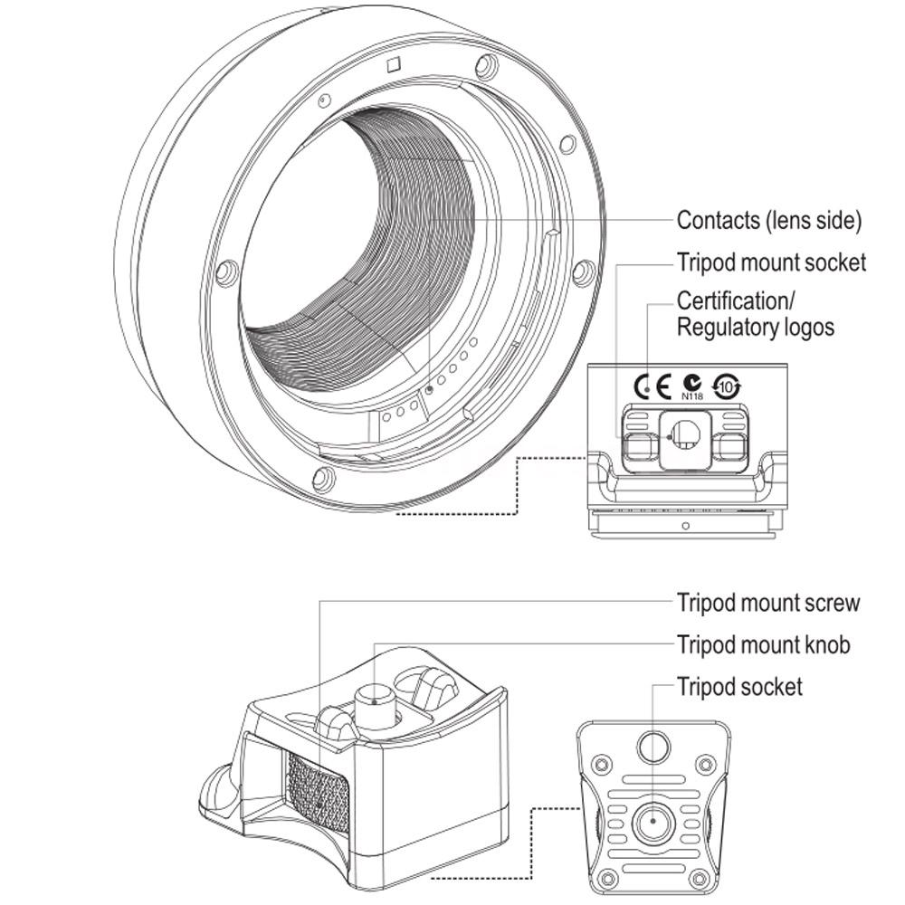Viltrox EF-EOS M Auto Focus Lens Mount Adapter for Canon