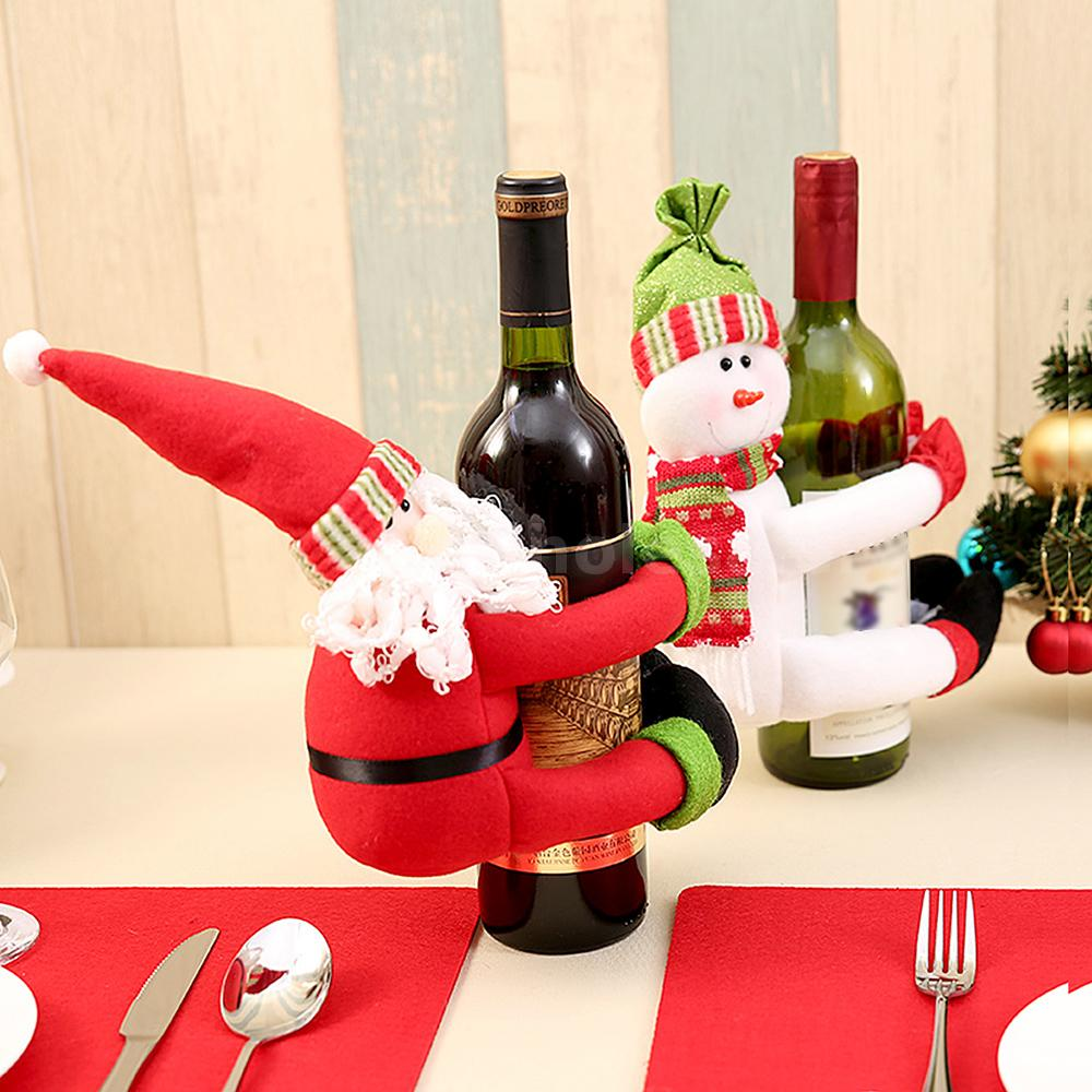 Christmas Wine.Details About New Christmas Wine Bottle Cover Christmas Wine Bottle Decoration Hot Sales O2p6