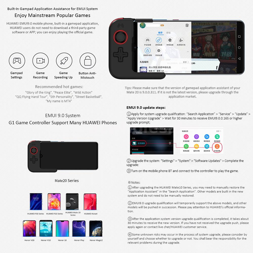 Details about HUAWEI BETOP G1 Wireless BT Gamepad Game Controller Joystick  for Huawei Phone