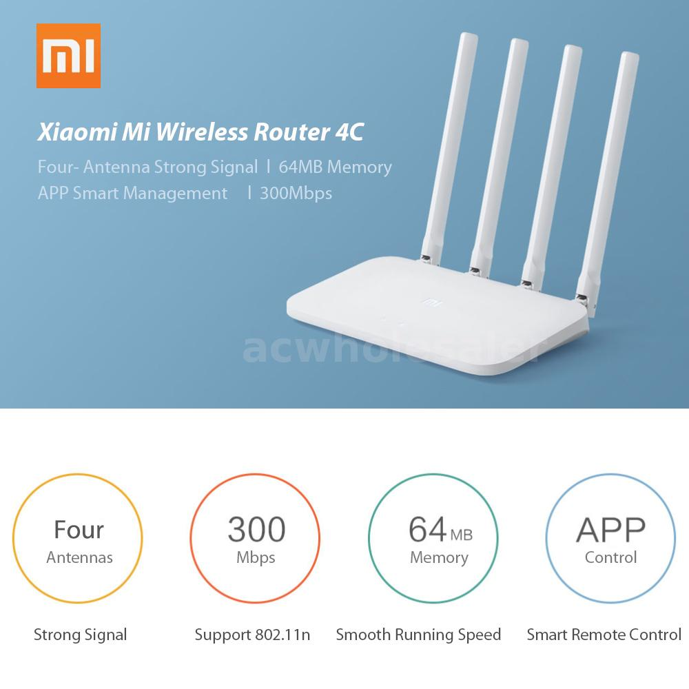 Details about Xiaomi Mi WIFI Router 4C 64 RAM 300Mbps APP Control Wireless  Network Extender